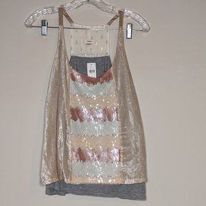 NWT | Anthropologie Sequined Cami